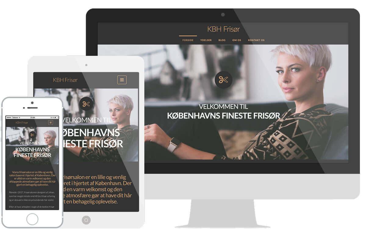 Responsive hjemmeside