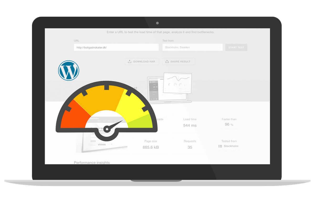 Få en hurtig wordpress hjemmeside