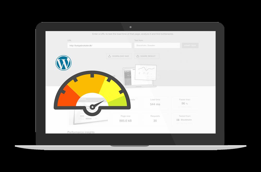 hurtig wordpress hjemmeside